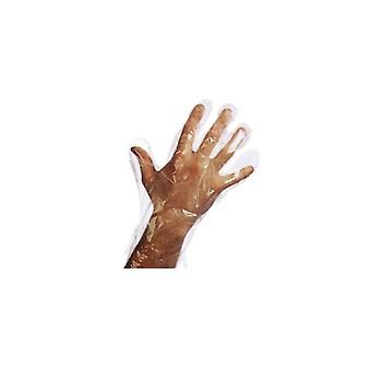 123 Hair and Beauty Disposable Polythene Gloves (pack Size;100)