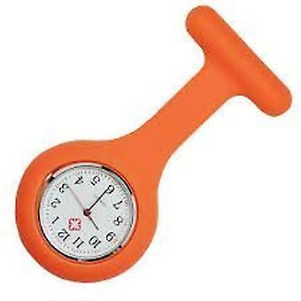 Brand New Fashion Silicone Nurses Brooch Tunic Fob Watch by Boolavard TM. (16 - Orange)