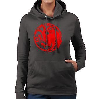 Game of Thrones Targaryen Sigil Three Headed Dragon Spray Women's Hooded Sweatshirt