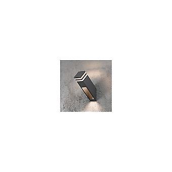 Konstsmide Massa grijs muur Post licht met acryl Lens