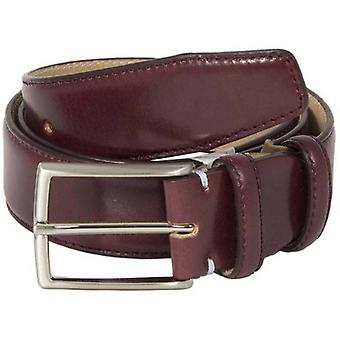 40 Colori Verona Florentine Leather Belt - Burgundy