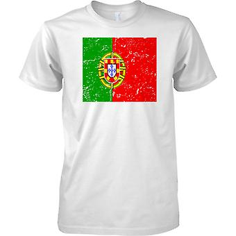 Portogallo Distressed Grunge effetto bandiera Design - Kids T Shirt