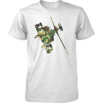 Bancaire Apache helikopter Camo - Army Air Attack Helicopter - Kids T Shirt