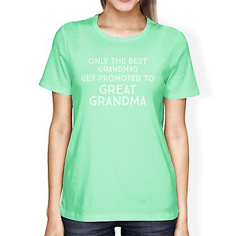 Promoted To Great Grandma Womens Short Sleeve Tshirt Graphic Cotton