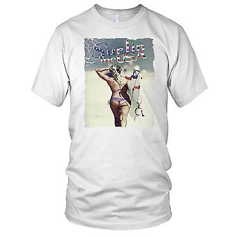 Surfen In de Verenigde Staten Surf strand Mens T Shirt