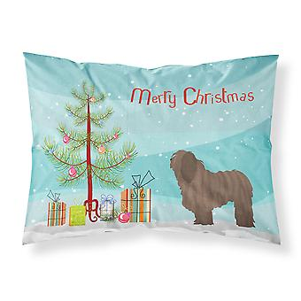 Bergamasco Shepherd Christmas Fabric Standard Pillowcase