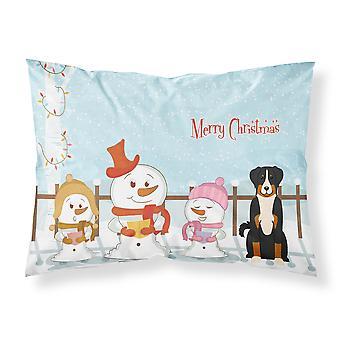 Joyeux Noël chanteurs Appenzeller Sennenhund tissu taie d'oreiller Standard