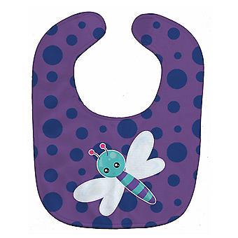 Carolines Schätze BB7099BIB Libelle auf lila Pünktchen Baby Lätzchen