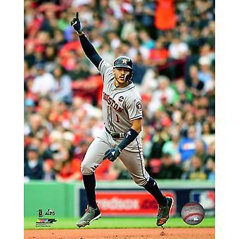 Carlos Correa 2 exécuter 3 jeu Home Run de la 2017 American League Division Series Photo Print