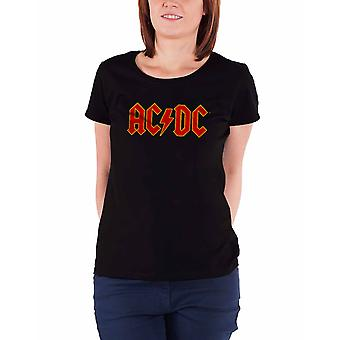 AC/DC T Shirt Classic band Logo new Official Womens super Skinny Fit Black
