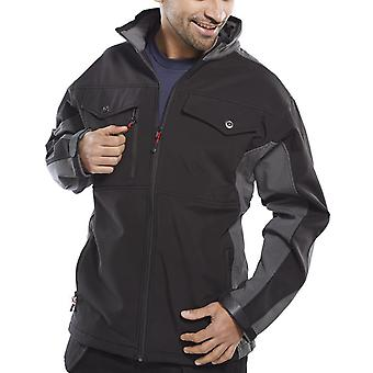 Soft Shell Two Tone Jacket (Water Resistant, Windproof And Breathable) Ssjtt