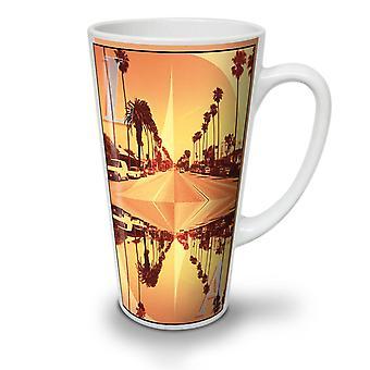 Los Angeles City NEW White Tea Coffee Ceramic Latte Mug 17 oz | Wellcoda