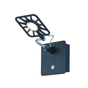 Black Chrome Led Adjustable Square Wall Light - Searchlight 7262bk