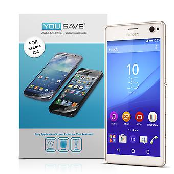 Protections d'écran Yousave Sony Xperia C4 - 3 Pack
