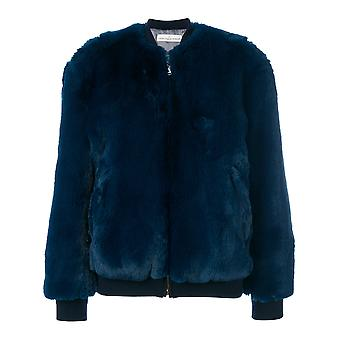 Golden Goose mujer G31WP061A1 Blau poliéster chaqueta