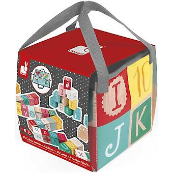 Janod 40 Letter & Number Blocks
