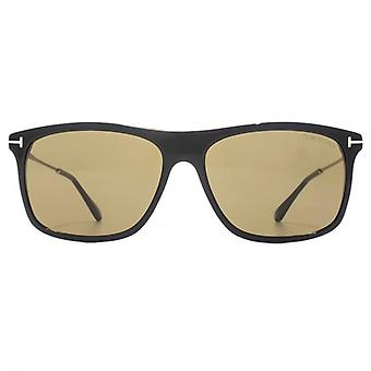 Tom Ford Max 02 Sunglasses In Shiny Black