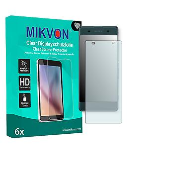 Sony Xperia XA Screen Protector - Mikvon Clear (Retail Package with accessories) (intentionally smaller than the display due to its curved surface)