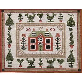 Little Red House Needlepoint Canvas