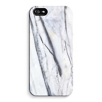 iPhone 5 / 5S / SE volledige Print geval (Glossy) - Striped marmer