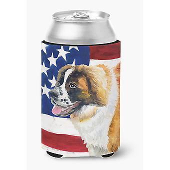 Carolines Treasures  BB9679CC Saint Bernard Patriotic Can or Bottle Hugger