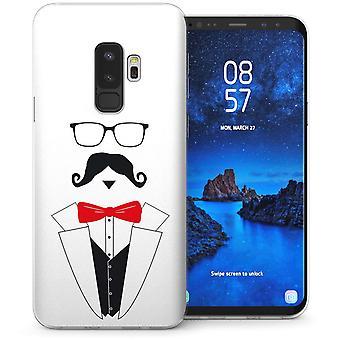 Samsung Galaxy S9 Plus Mr Moustache TPU Gel Case – Red