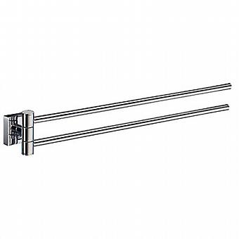 House Swing Arm Towel Rail - Polished Chrome RK326
