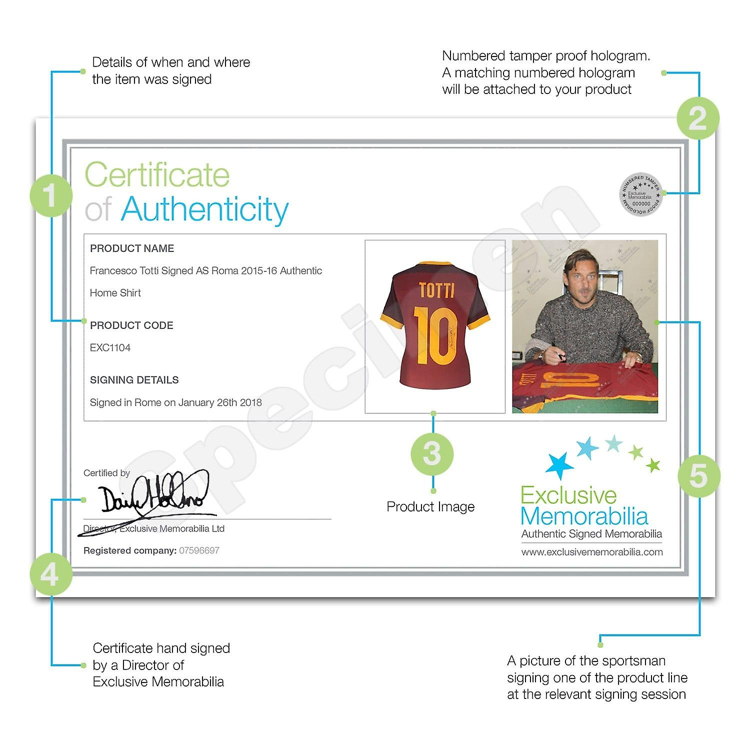 fc055594d Francesco Totti Signed AS Roma 2015-16 Authentic Home Shirt In Deluxe Black  Frame With