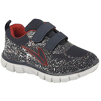 Boys Kids Superlight Weight Touch Fastening Jogger Mesh Trainers Shoes