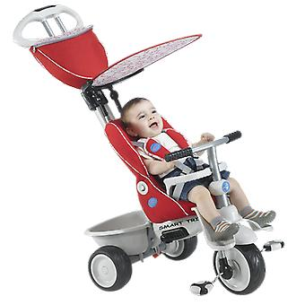 Baby-Trike Recliner 4-in-1 - rot / Creme