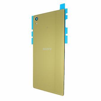 Oryginalny Sony Xperia Z5 Premium Gold powrotem pokrycie klejem