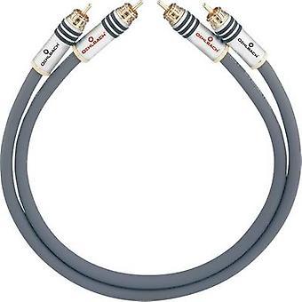 RCA audio/phono kabel [2x RCA plug (phono)-2x RCA plug (phono)] 4 m antraciet vergulde connectors Oehlbach NF 14 MASTER