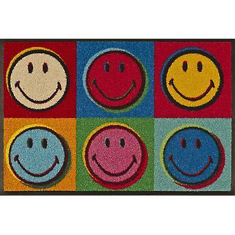 lavare + a secco stuoia Smiley Warhol 50 x 75 cm