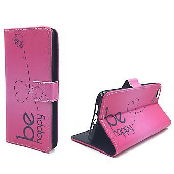Handyhülle Tasche für Handy Xiaomi Mi 5  Be Happy Pink