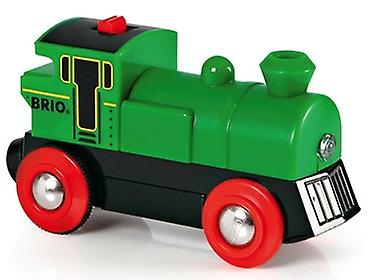 BRIO Battery Powered Green Engine 33595 Train for Wooden Railway
