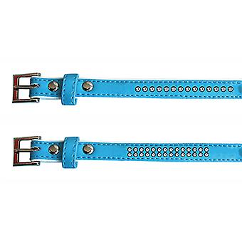 Freedog Bright Blue Collar kunstleren 1, 3x25cm