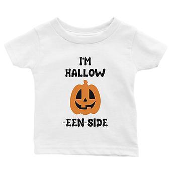 Hollow Inside Pumpkin Baby Gift Tee White