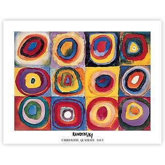 Wassily Kandinsky Farbstudie Quadrate 1913 Kunstdruck  Kleinformat