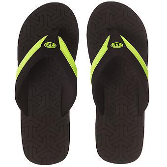 Dyr Herre Jekyl Slim sommer strand ferie badesandaler Sandaler Flip Flops - sort