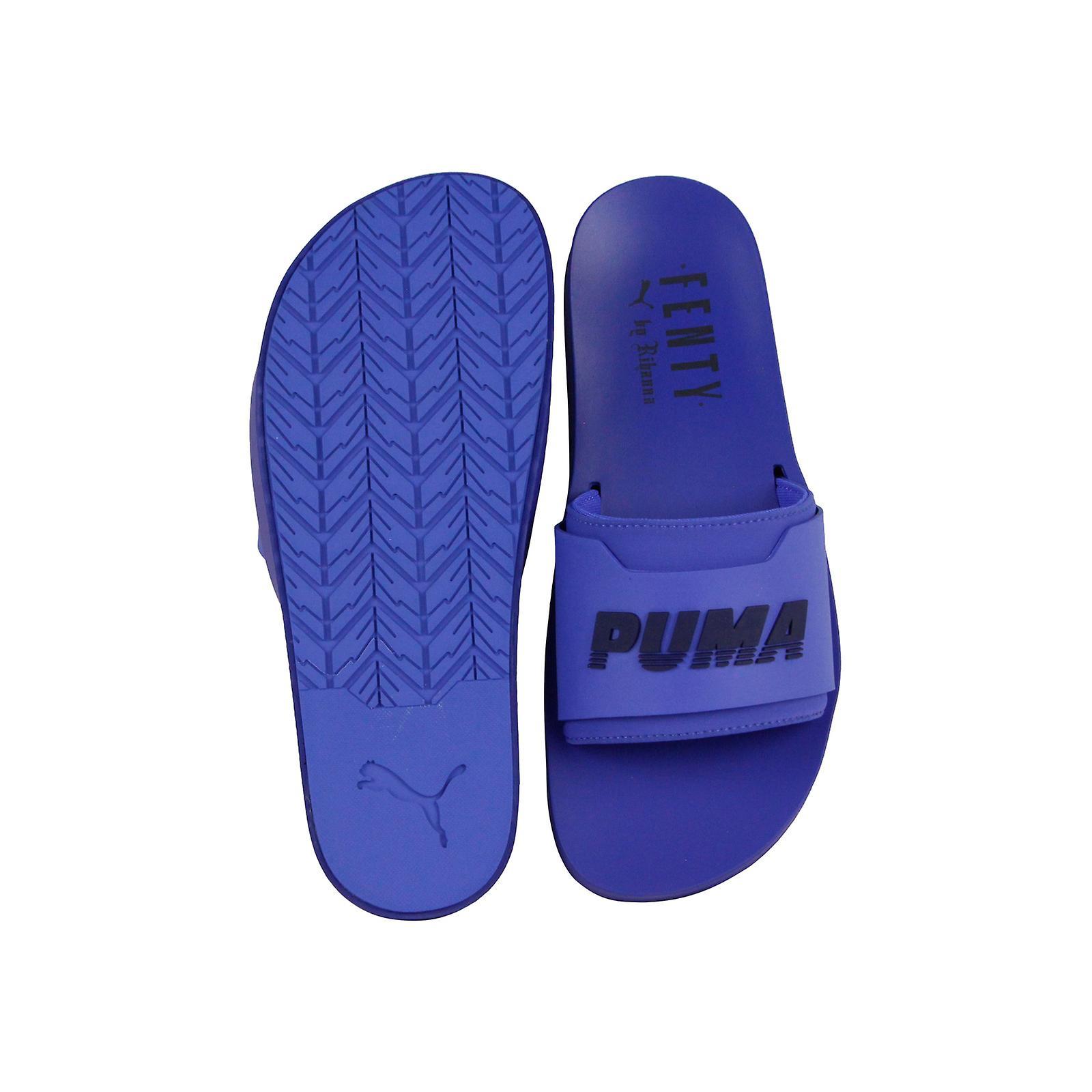 hot sales 02363 15d2d Puma Fenty Surf Slide 36774703 Womens Blue Sandals Slip On Slides Shoes