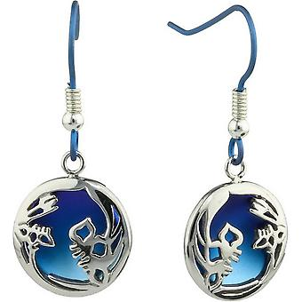 Ti2 Titanium Iris Drop Oorbellen - blauw