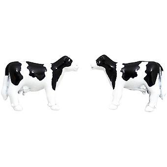 Zennor Cow Cufflinks - Black/White