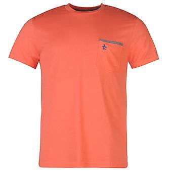 Penguin Oxford para hombre T camisa Casual ligero de verano manga corta cuello redondo t