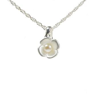 Cavendish French Silver Petals and Pearl Pendant without Chain