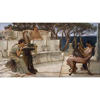 Sappho, Sir Lawrence Alma-Tadema, 80x40cm