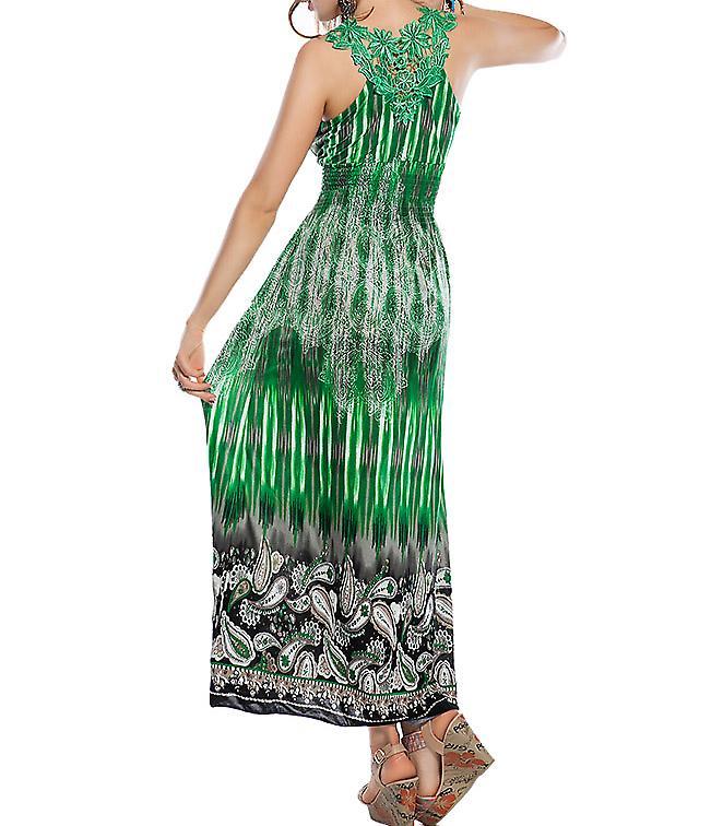 Waooh - moda - abito lungo cashmere e giogo ricami