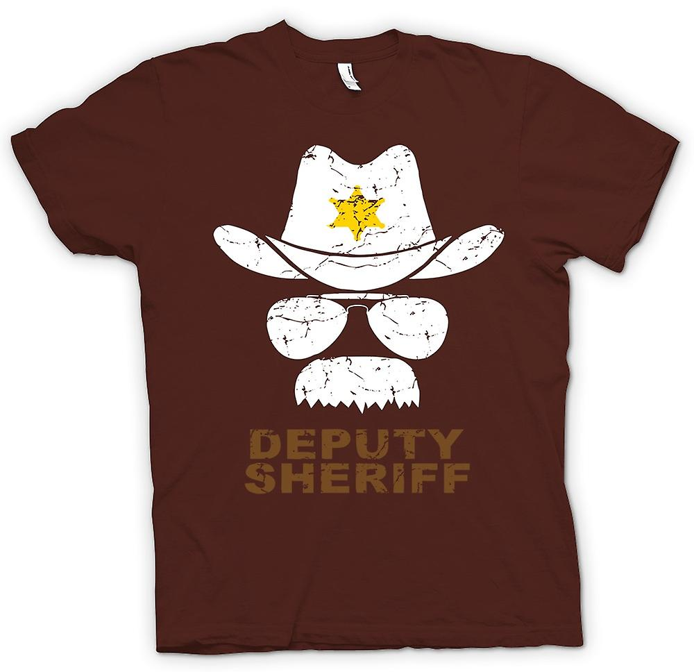 Mens T-shirt - stellvertretender Sherriff Funny Polizei - Grafik-Design
