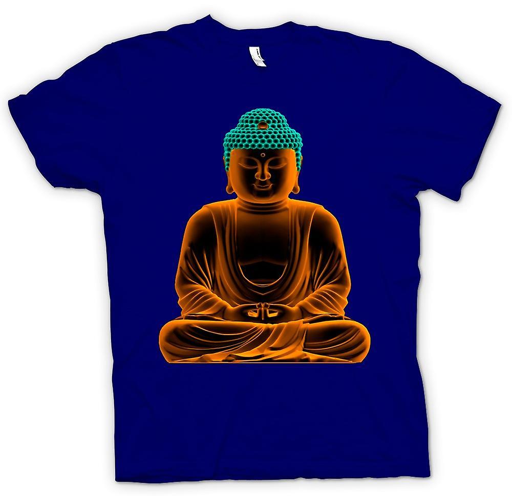 Heren T-shirt - sereen Gouden Boeddha - geestelijke