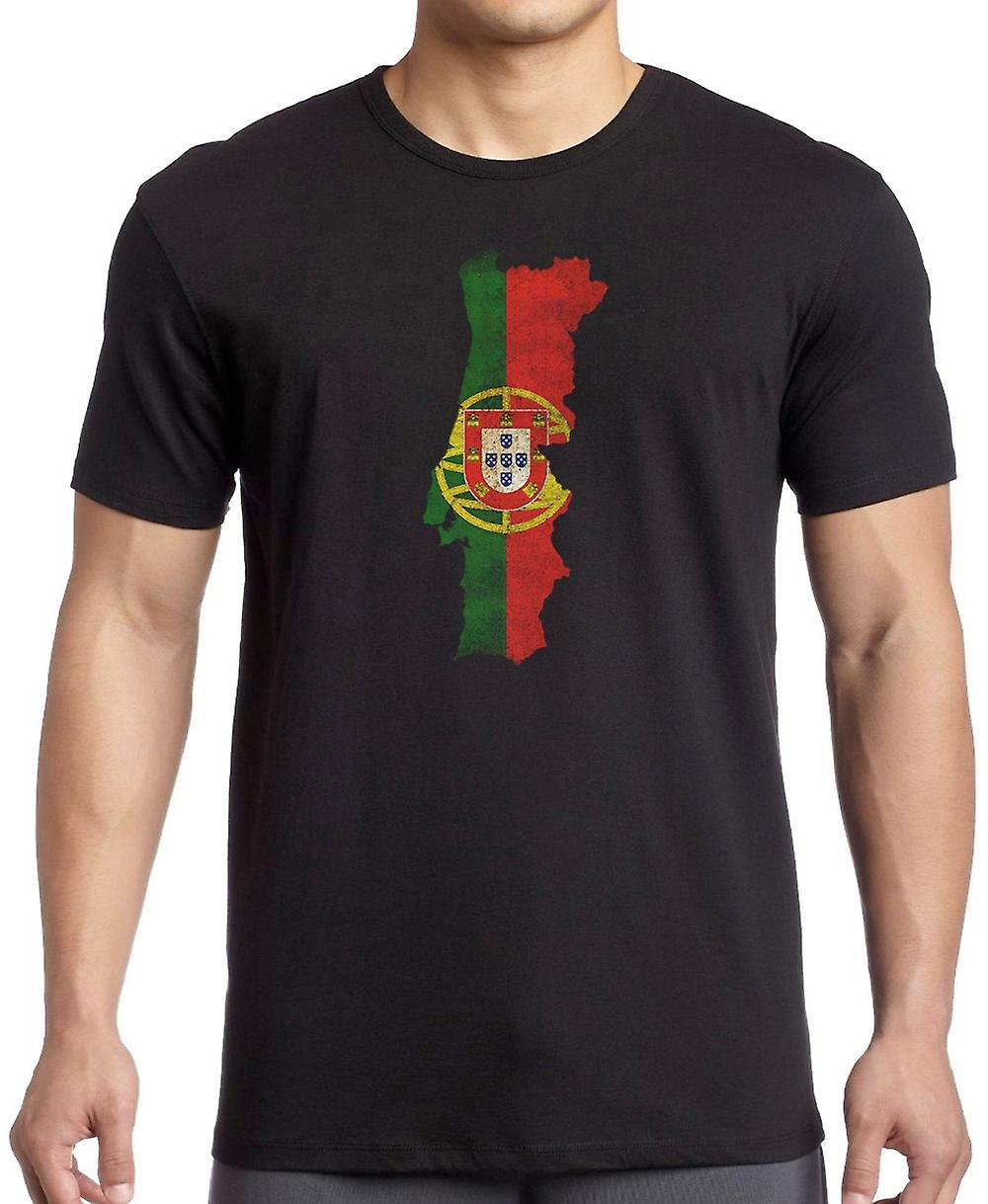 Portuguese Portugal Flag Map -  T Shirt
