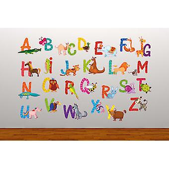 Full Colour Animal Alphabet Educational Wall Sticker